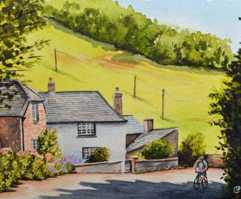 No. 30  Late Summer Afternoon, Bike Ride – Time Lapse Watercolour Sketch