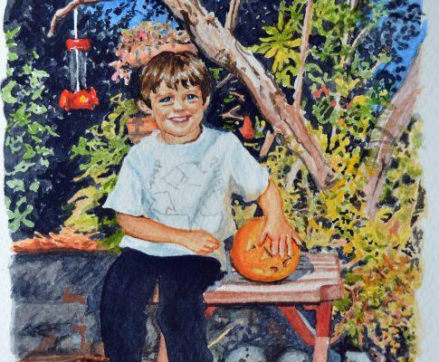 No. 36 Pumpkin Time – Watercolour Time Lapse Sketch