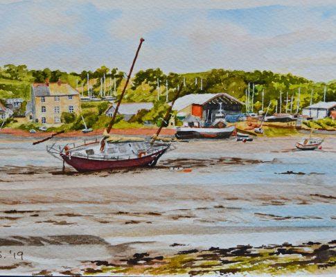No. 38 Boatyards at Southdown – Watercolour Time Lapse Sketch