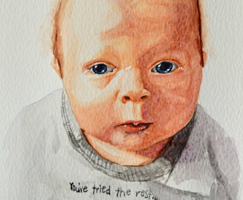 No. 40 Two Months Old – Watercolour Time Lapse Sketch