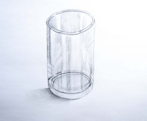 "62 Lockdown Art 3 – (Part 2) Ellipses & Cylinders ""Drinking Glass"""
