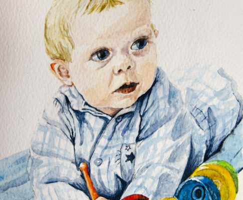 "53 ""Five Months Old"" – Watercolour Sketch (Time Lapse)"
