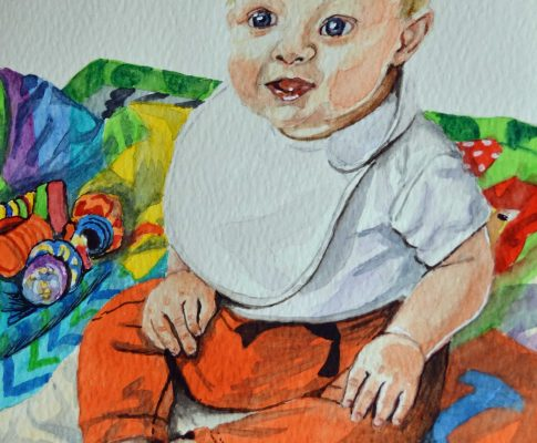 "57 ""Six Months Old""- Watercolour Sketch (Time Lapse)"