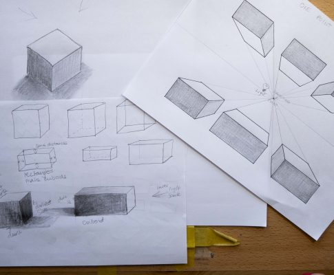 "59 Lockdown Art 2 – ""Cubes, Cuboids & introduction to one point perspective"" (Part 1)"