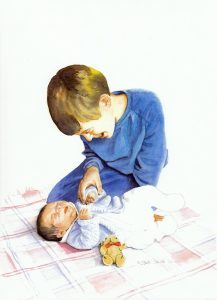 """Adoration - New Baby Brother"" by Carie Sauzé"
