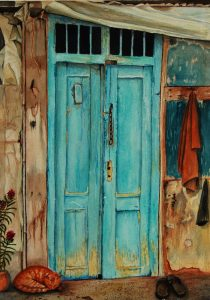 """Behind the Blue Doors"" by Carie Sauzé"