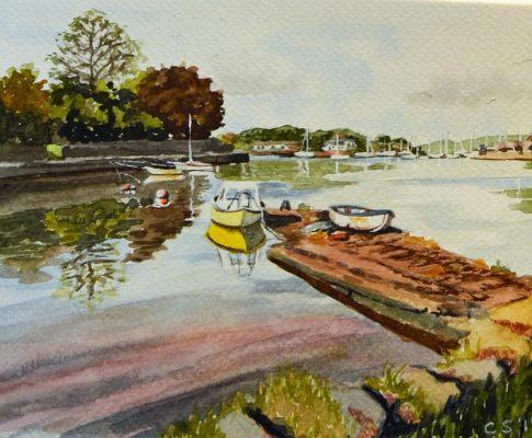 No. 5 Time Lapse Watercolour Sketch of a Cornish Creek