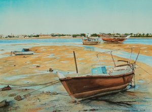 """Fishing Boats - Muharraq"" by Carie Sauzé"