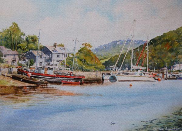 """Millbrook Boatyard, Insworke Cornwall"" by Carie Sauzé"
