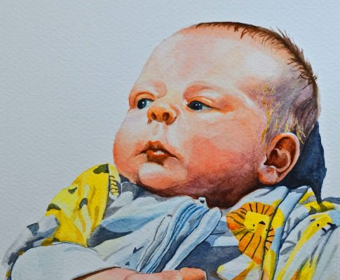 No. 35 Four Weeks Old – Watercolour Time Lapse Sketch