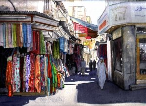"""The Fabric Stall"" by Carie Sauzé"