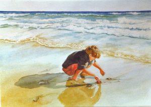"""""""Toby on the Beach 2"""" by Carie Sauzé"""