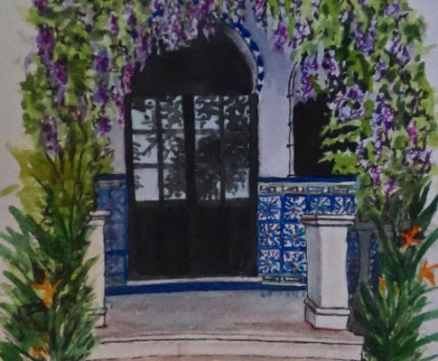 No. 7 Time Lapse Watercolour Sketch of Andalusian Doors