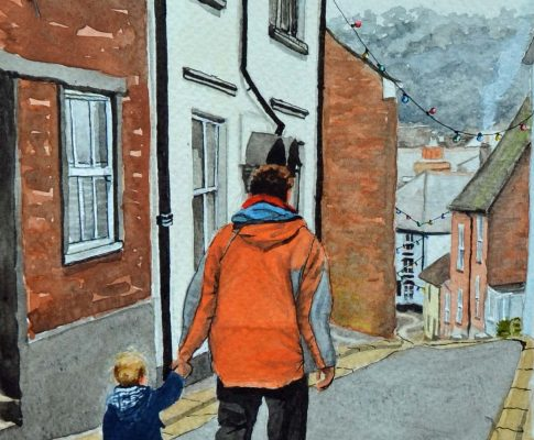 No. 33 Father and Son Stroll – Time Lapse Watercolour Sketch