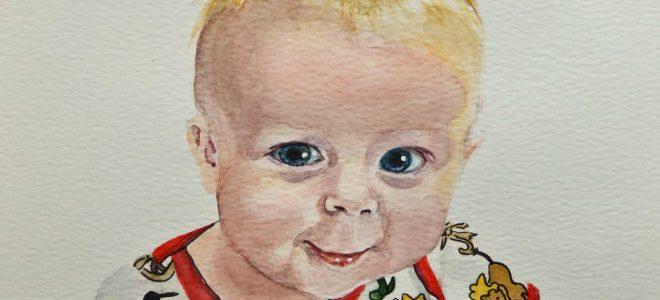 "No.45 ""Three Months Old""- Watercolour Sketch (Time Lapse)"