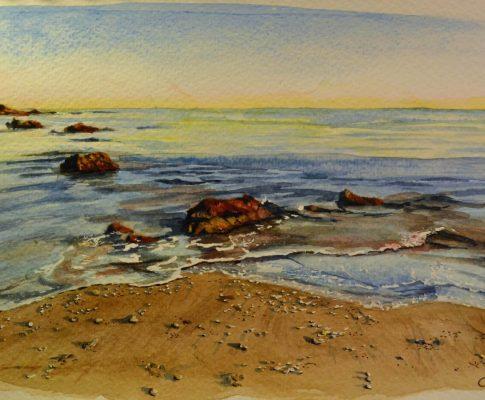No. 2 – Time Lapse Watercolour – Beach scene
