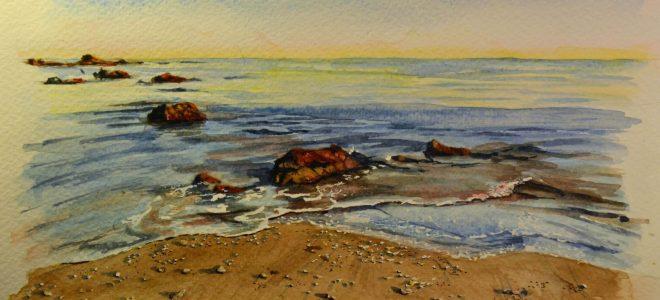 No. 2 – Time Lapse Watercolour Sketch – Beach scene