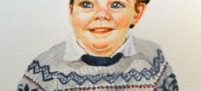 No. 3 Time Lapse Watercolour Sketch of a Child