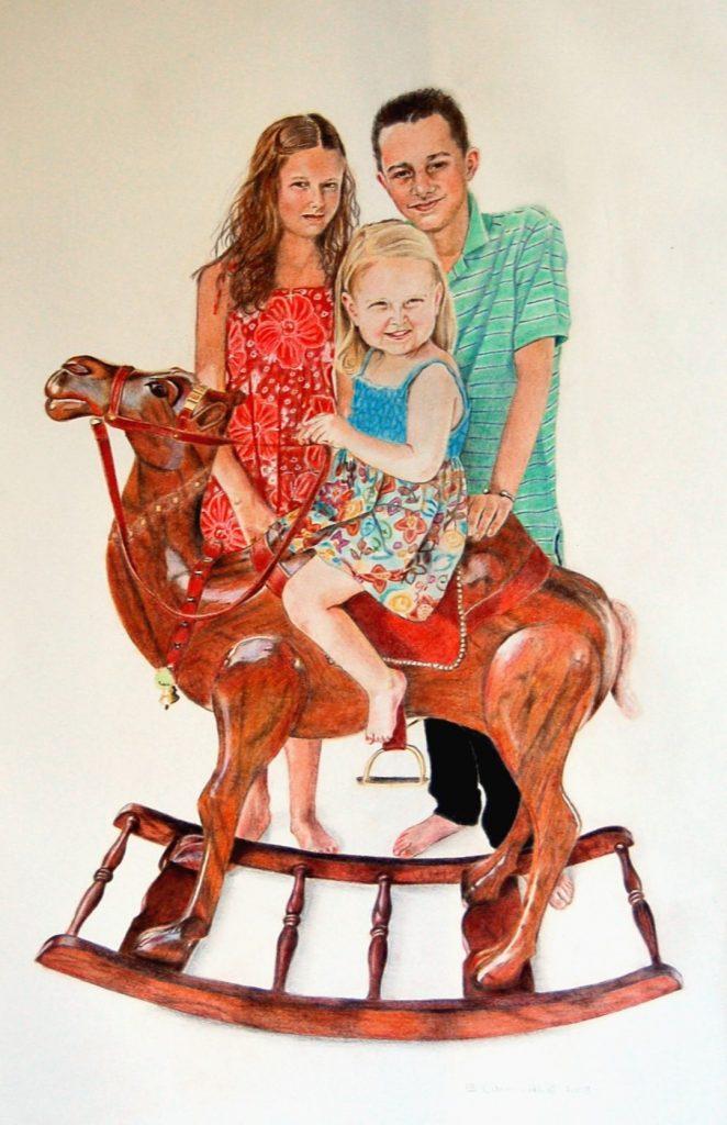 """""""Family Portrait - Colored Pencil"""" by Carie Sauzé"""